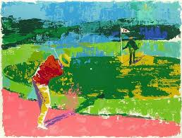 Leroy Neiman Golf Painting